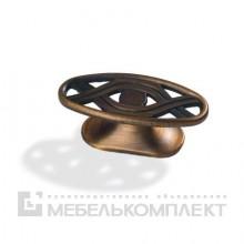 Кнопка Вензель латунь