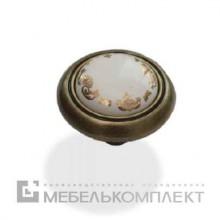 Кнопка фарфор+золото