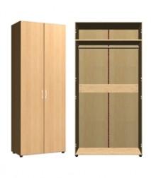 Шкаф для одежды<br>2 двери<br>ШхВхГ<br>840х2040х420мм<br>840х2240х420мм