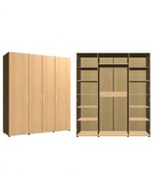 Шкаф комбинированный<br>4 двери<br>ШхВхГ<br>1960х2040х560мм<br>1960х2240х560мм