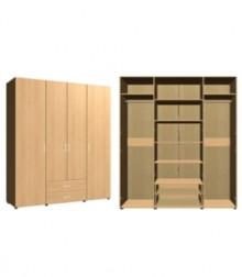Шкаф комбинированный<br>4 двери 2 ящ<br>ШхВхГ<br>1960х2040х560мм<br>1960х2240х560мм