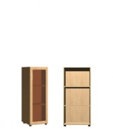 Шкаф 1 дв. стекло<br>ШхВхГ<br>420х1240х420мм<br>560х1240х420