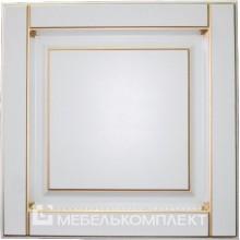 "Фрезеровка - ""Карат""<br>Цвет ПВХ - Белый глянец<br>Патина - Золото"