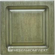 """Фрезеровка - """"Квадро"""" Цвет - Эффект старения+коричневая патина"""